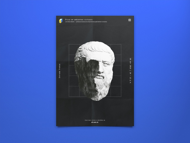 E5 Event Poster study layout branding geometric plato ethics science design engineering education brutalism poster