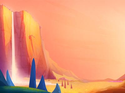 Valley dino bash valley sunset