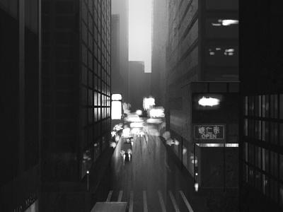 NY b/w film noire
