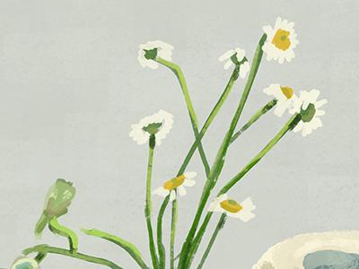 Real Life Study illustration photoshop life study flower paper egg