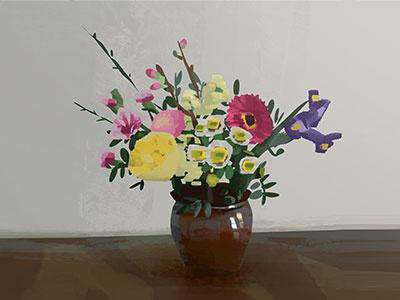 Flowers - Drawing home work schoolism dice tsutsumi robert kondo illustration sketch flowers