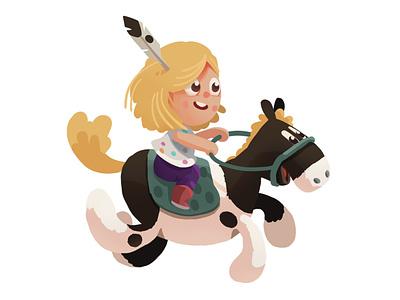 Having Fun illustration pony fun horse