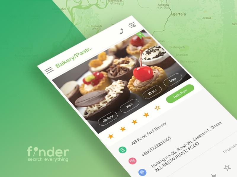 Finder Directory App Template phone rating web gallery android finder directory profile location template map
