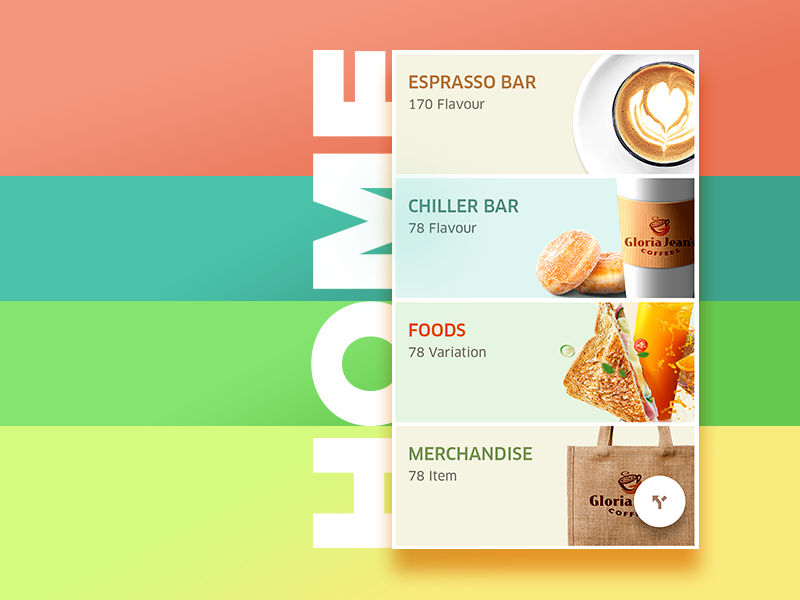 Gloria Jeans Coffee - Home concept  drinks food ux ui color clean home coffee