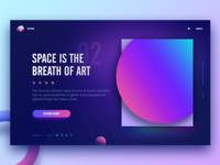 Space web concept