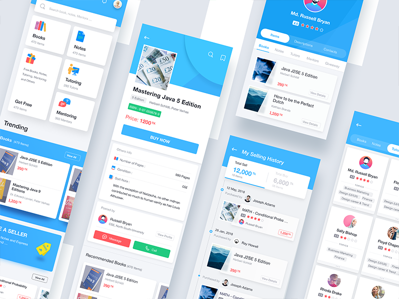 UNI App UI by Audacity IT Solutions Ltd on Dribbble