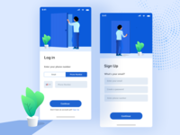 Login and Sign up concept