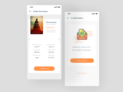 Order summary and confirmation concept order confirmation order details ux ui