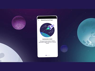 I'm a schoolchild app: episode 4 — The Final Frontier motion interface school children ux ui illustration after effects design app design app animation