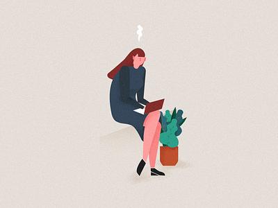 Illustratuin for Elice: student2 cloud trouble worry mac dest vector illustration programming coding