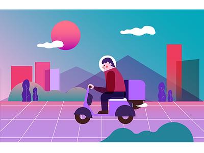 Deliveryman color study wip sketch design material ios gui app address delivery