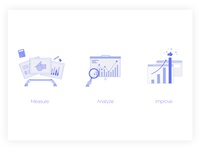 data driven product management icon set