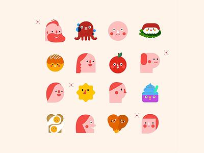 bootake illustration : Food Crush splash game character vector candy food illustration app bootake