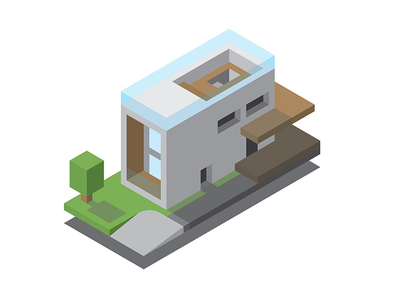 isometric house by brian du
