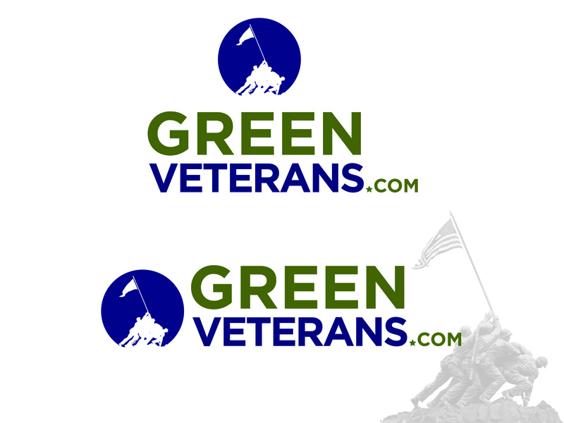 Green Veterans Logo Update design branding illustration logo military veterans day