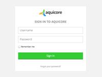 Aquicore's login