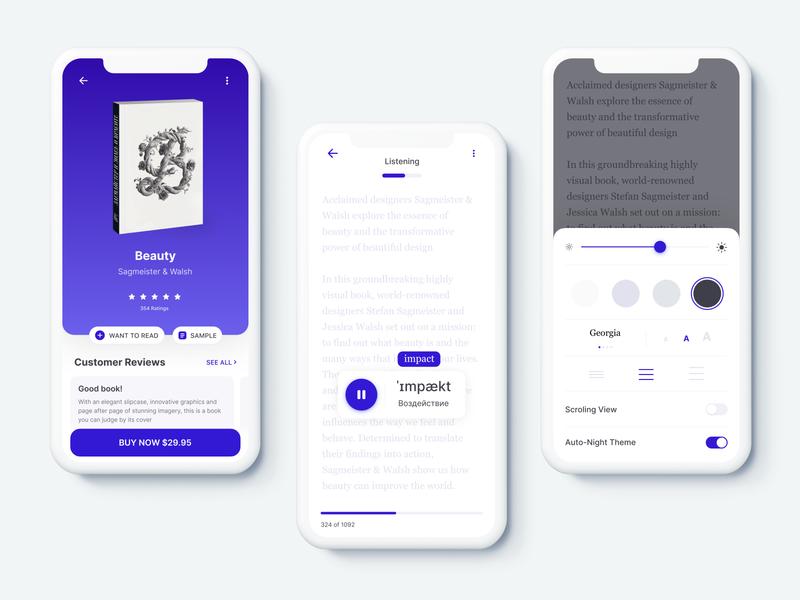 Mobile book ui clean app book