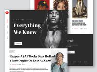 Media magazine concept