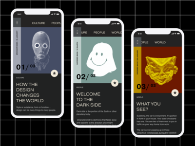 Masks are part of our lives. typography mask layout grid app design concept ux ui