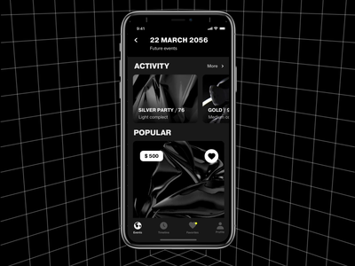 Time Machine app future grid concept ux ui
