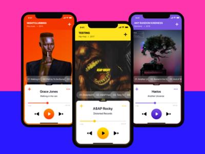 Music player app ui concept