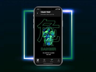 Zero Screen grid ui ux animation design app typography concept