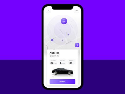 Carsharing Application Concept mobile ui audi card car app design app carsharing
