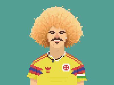 Carlos Valderrama Pixel Art