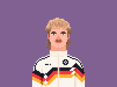 Rudi Völler Pixel Art
