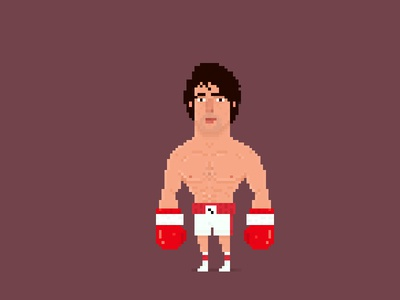 Pixel Rocky Balboa