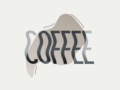 Coffee typography illustration