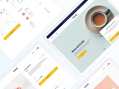 Grind Ecommerce Template cart shopping home page orders checkout template ecommerce ux ui