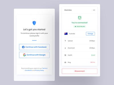 VPN app app mobile security vpn ux ui
