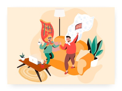 Stay home remotework illustration vector leisure home stayhome virus