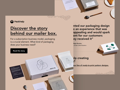 Email - Inspiring stories newsletter graphic design email design packaging branding typography