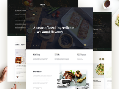 Foodie wordpress web typography theme site restaurant pixelgrade parallax fullscreen food fonts design