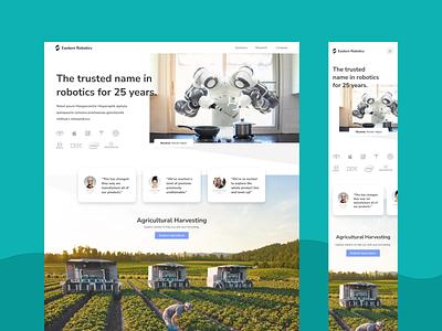 Eastern Robotics Landing Page marketing tech web design user interface ux ui landing page
