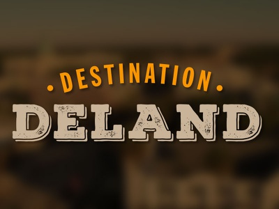 Destination Deland Logo logo branding
