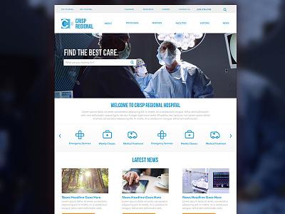 Crisp Regional Website Redesign design web