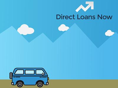 Direct Loans Now website concept svg grunticon web design