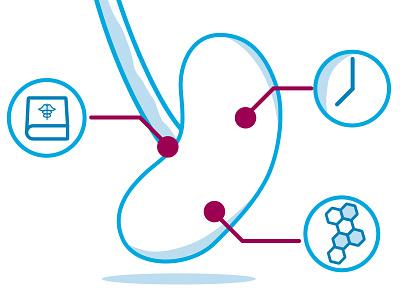 Kidney Transplant Icon medical illustration