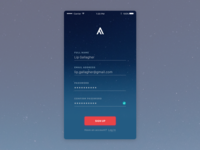 Daily UI #001—Sign Up
