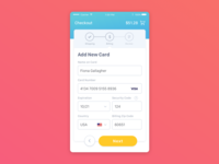 Daily UI #002—Credit Card Checkout
