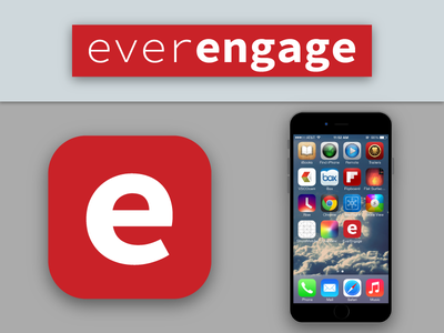 Ever Engage App Icon Mockup for DailuUI 005. mockup 005 dailyui forhire freelance ardenhanna everengage bayarea graphicdesign ios icon app