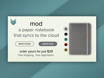 Mod Notebook Product Customization for DailyUI 033. interface ui forhire freelance sf bayarea customize product modnotebook