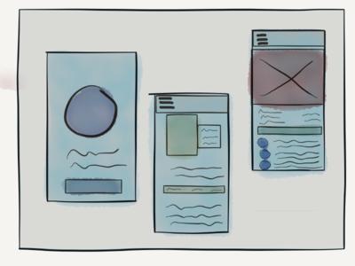 Lo-Fi App Sketches