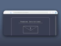 Pending Invitation Window for DailyUI 078.
