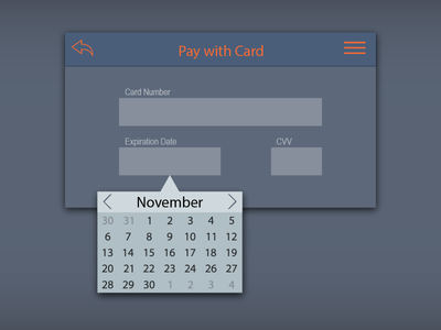 Date Picker Checkout Interface for DailyUI 080.