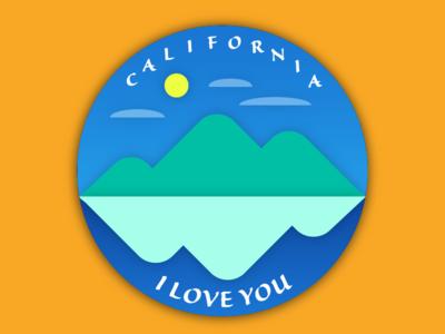 California (I love you) Badge for DailyUI 084.