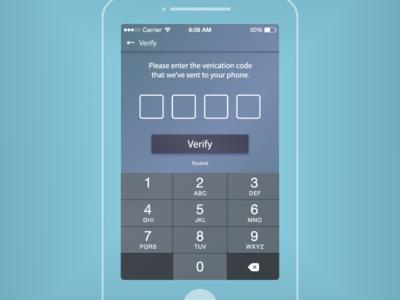 SMS Verify Code iOS Interface